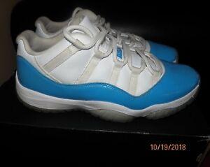 48af90a6b91 Nike Air Jordan 11 XI Retro Low North Carolina White/Blue (528895 ...