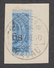 Macao Sc 125a used 1910 6a on 200r King Carlos Vertical Bisect on Small Piece