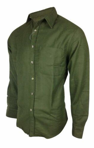 Regents View Men Heavyweight 100/% Cotton Moleskin Shirt