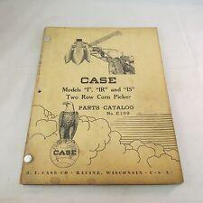 Case Models I Ir Amp Is Two Row Corn Picker Parts Catalog No E169