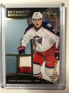 2015-Upper-Deck-Ultimate-Collection-Rookies-Gold-25-Josh-Anderson-2-Color-Patch
