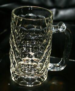 Antique-EAPG-Pattern-Glass-Flint-Honeycomb-Georgian-Pattern-Heavy-12-oz-Mug-Nice