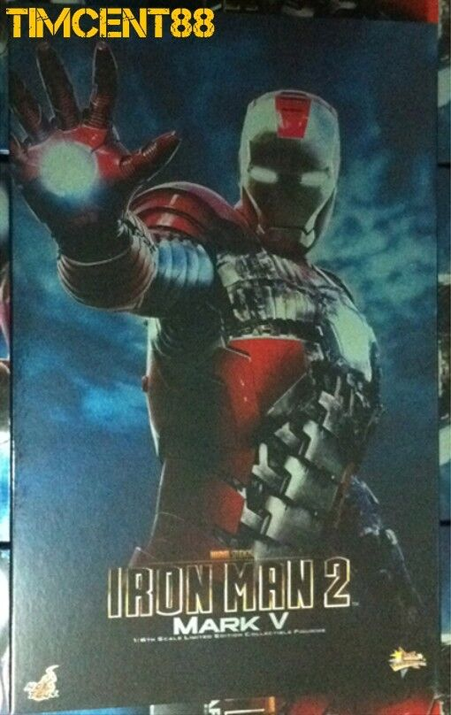 listo  Hot Toys MMS145 Iron Man 2-figura De Ironman Mark 5 V 1 6 Nuevo