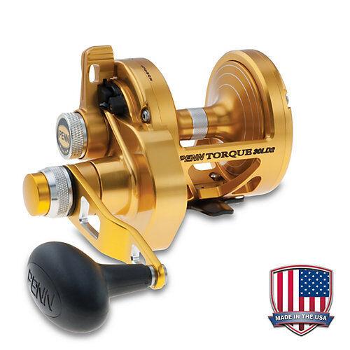 Penn Torque TRQ LD2 todos los tamaños de palanca de arrastre Cocherete de 2 velocidades (Hecho en EE. UU.) + Garantía