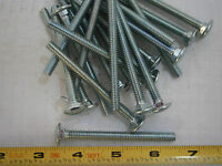 Carriage Bolts 1/4-20 X 3 Steel Zinc Plated Lot Of 20 2645