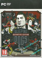 SLEEPING DOGS Definitive Edition jeu PC coffret collector limitée type gta neuf