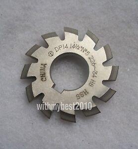 Lot 1pcs Dp18 14-1//2 degree 7# Involute Gear Cutters No.7 Dp18 Gear Cutter