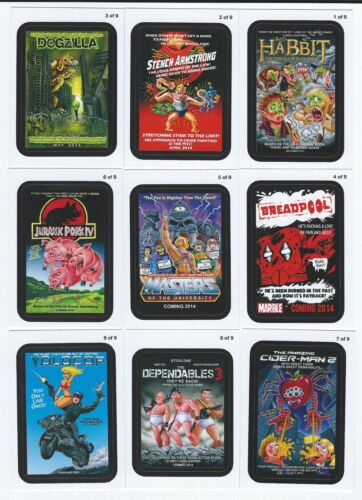 2013 Topps WACKY PACKAGES ANS Series 11 COMING DISTRACTIONS Insert Set 9 Cards