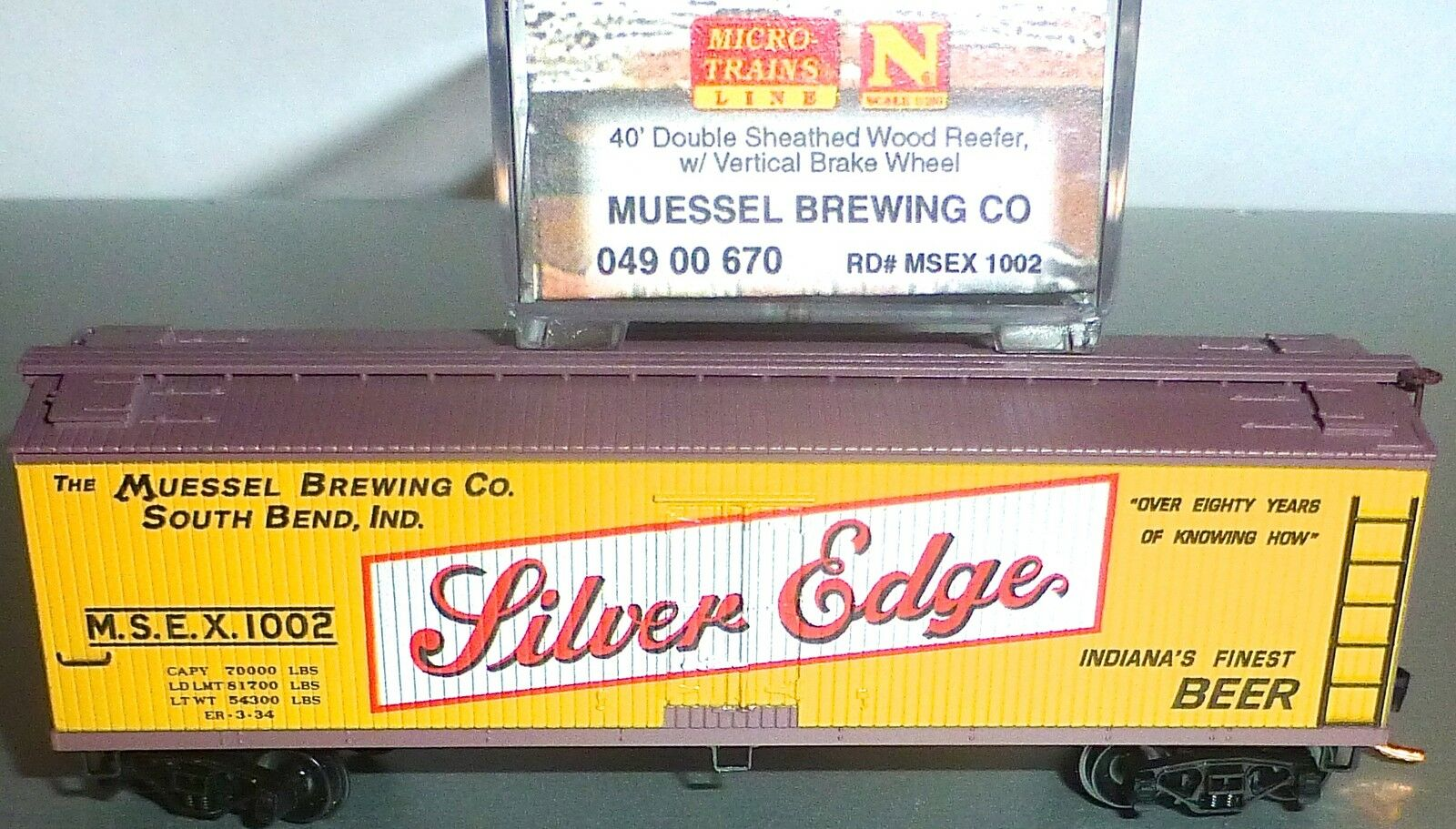 Muessel Brewing Co 40 Double Sheathed MICRO TRAINS 049 00 670 N 1 160 OVP HS3 Å