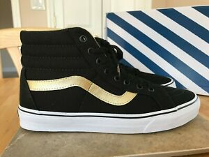 6f6de53e64 VANS BLACK AND GOLD MEN S SHOES SIZE 10 SK8 - HI REISSUE 50TH ...