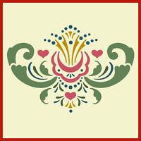 Rosemaling Pattern 8 Stencil- Swedish Kurbits - The Artful Stencil
