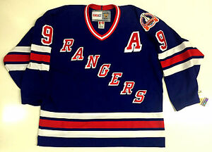 ADAM GRAVES NEW YORK RANGERS CCM VINTAGE 1994 STANLEY CUP BLUE ... 1cbfb7a76