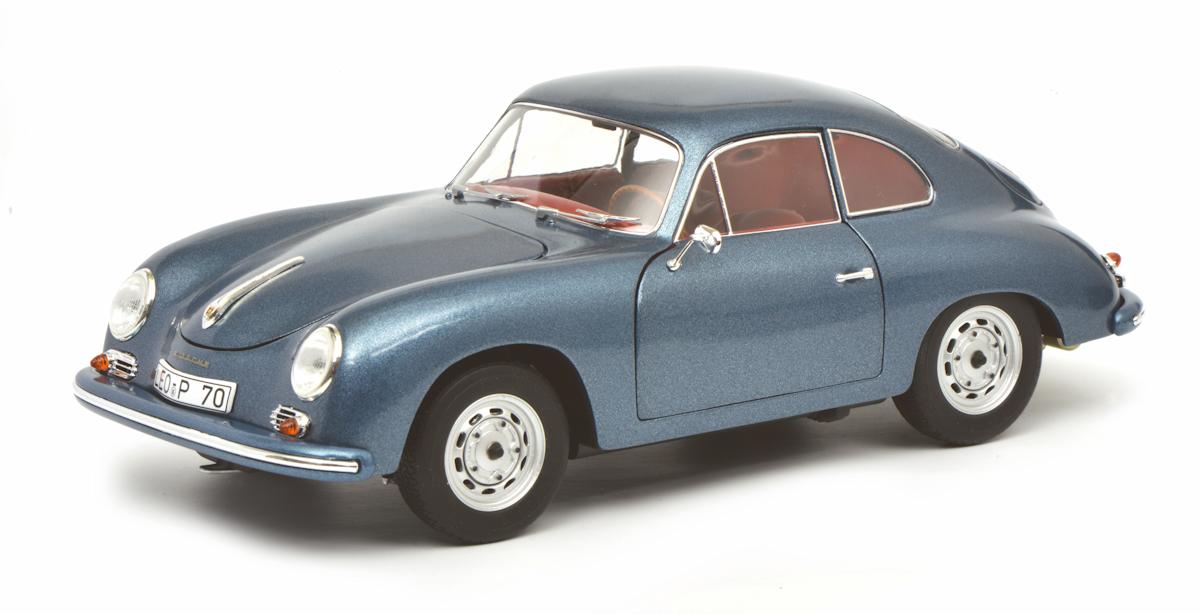 Schuco Classic PORSCHE 356 A, bleu métallisé 1 18