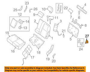 image is loading nissan-oem-second-row-back-rear-seat-seat-