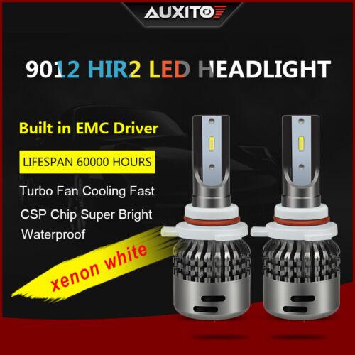 2x 9012 9000lm CREE LED Headlight Conversion Kit White bulbs high power car lamp