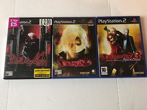 Devil May Cry Trilogy 1 2 3 komplett Sony ps2 Playstation 2 Spielepaket UK Pal
