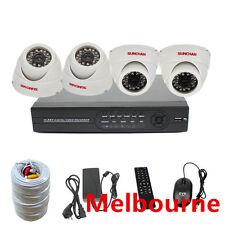 4CH CCTV 600TVL Plastic Dome Day Night Indoor Security Camera SYSTEM DIY Kit