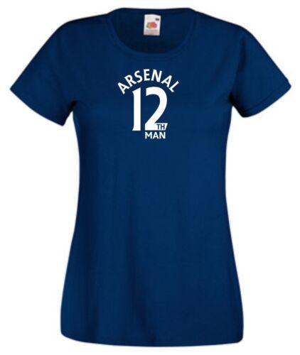 12th Man Arsenal Fan T-Shirt Womens