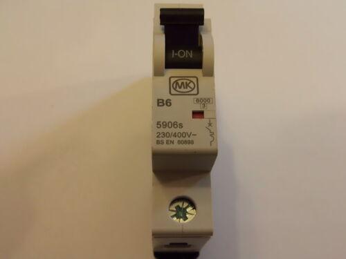 L50 1 PACK MK Sentry B6 SINGLE POLE CIRCUIT BREAKER 240V 5906s BS EN 60898