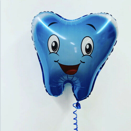 First Tooth Celebration Blue Foil Balloon