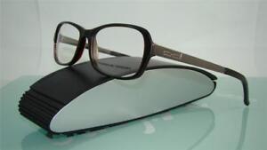 88303c8138d Porsche Design P 8207 A Brown   Gunmetal Eyeglasses Frames Size 53 ...