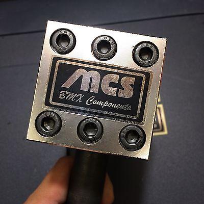 Old school bmx MCS stem black//chrome BMX decal