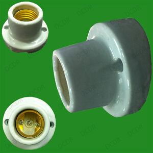 Edison vis céramique émaillée porte-ampoule es E27 angle lampe socket montage mural
