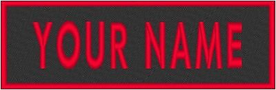 "Custom Embroidered 4"" x 2"" Name Tag  Patch With VELCRO® Brand Fastener #11"