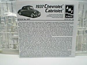 AMT ERTL '37 CHEVROLET CABRIOLET 3 WAY JUNK YARD MODEL CAR 1/25 KIT  L@@K!