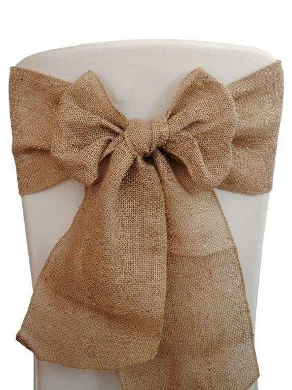 175 Burlap Chair Sashes 6 x108  Wedding Event Parties Shows 100% Natural Jute