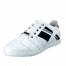 Versace Collection Men's White  Leather Fashion Sneakers Shoes US 9 IT 42