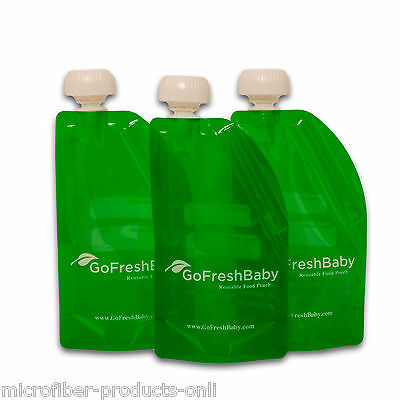 Go Fresh Baby Reusable Food Pouch Refillable Homemade Foods Recyclable BPA Free