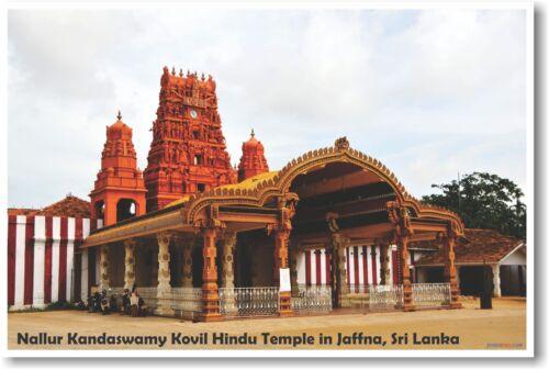 NEW World Travel POSTER Nallur Kandaswamy Kovil Hindu Temple