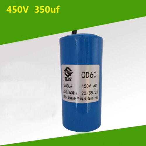 1pcs CD60 Motor Start Capacitor 350 MFD UF 450VAC HVAC Capacitor