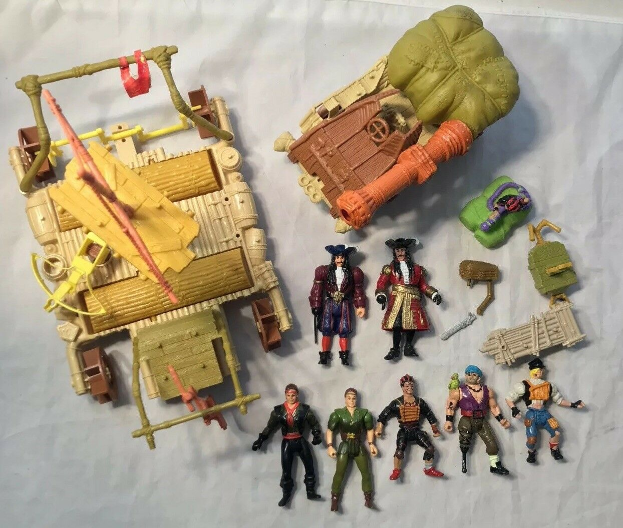 RARE 1991 TriStar Hook Peter Pan Lost Boys Pirates Figures Lot vintage Mattel
