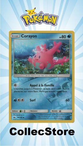 SL1 Soleil et Lune ☺ Carte Pokémon Corayon REVERSE 36//149 VF NEUVE