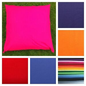 LARGE FLOOR CUSHION COVERS Plain Solid Colours 80 CM 90 CM OR 100