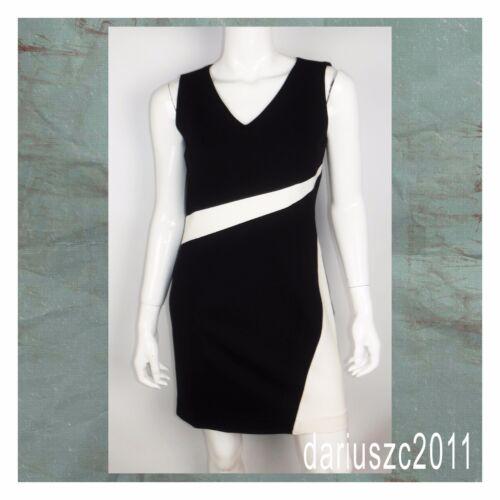 ecru Mouwloos Maat Zwart House Jurk White Market Colorblock Black 4 vqXYantw8