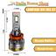 miniatura 2 - Coppia Lampade Led Per Auto Moto H11 IRS 67 6500K 24.000LM LUCE BIANCO GHIACCIO