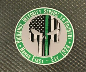 Thin Green Line Punisher Skull Flag Sticker Decal Free Shipping Ebay