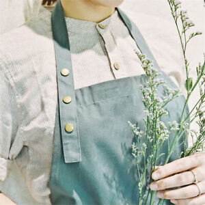 Cotton-Green-Aprons-for-Women-with-Pockets-Kitchen-Cooking-Art-Kitchen-Home