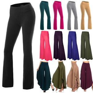 Women-High-Waist-OL-Harem-Boot-Cut-Yoga-Pants-Casual-Trousers-Stretch-Sports-OBS