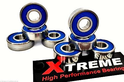 627 RS 7mm ABEC-11 Xtreme Red /& White HIGH PERFORMANCE ROLLER SKATE BEARINGS