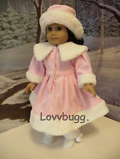 """Pink Fur Coat Hat for 18"""" American Girl Doll Lovvbugg! Found It All Here!"""