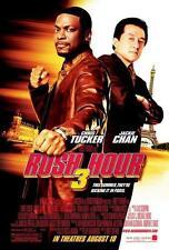 RUSH HOUR 3 ORIGINAL 27x40 MOVIE POSTER (2007) CHAN & TUCKER