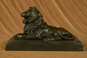 Office-Home-deco-bronze-sculpture-Animal-African-Jungle-Lions-Great-Detailed-Art
