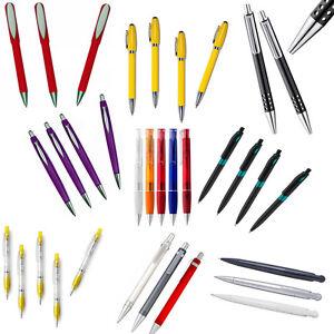 100-Kugelschreiber-Kuli-Kulis-Stifte-bunt-gemischt-ohne-Werbeaufdruck-NEU
