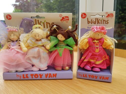 Le toy van  4 Fairy Budkins A pack of 3 Fairy budkins plus 1 single Princess.