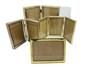 Bi Fold Picture Frames Vintage Metal Hinged Set of 5 x 7