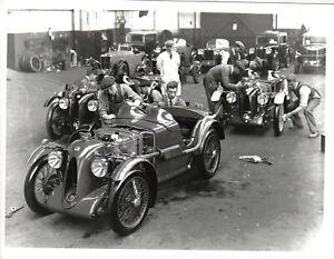 MG C Type Midget Factory Retrospective black & white Press Photograph No. 9904
